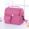 Mommy Back Milk Lunch Bag Breast Milk Preservation Mommy Bag Refrigerated Portable Work Insulation Bag - Rose Red