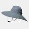 Increase The Hat Men's Fisherman Hat Waterproof Outdoor Sun Hat Sunscreen Mountaineering Hat - Grey2