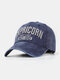 Men Cotton Letter Embroidery Sunshade Outdoor Casual Baseball Hat - Navy