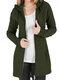 Cappotto di taglia Plus con cerniera con coulisse in tinta unita casual - Army Green