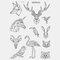 Halloween Face Temporary Tattoo Stickers Waterproof Sweatproof Breathable Art Body Fake Tattoo Transfer Paper - 16