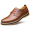 Men Pure Color Non Slip Wearable Soft Casual Leather Shoes