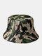 Unisex Cotton Camouflage Solid Climbing Outdoor Sunshade Adjustable Bucket Hat - Camo-3