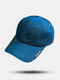 Unisex Cotton Solid Color Letter Pattern Embroidery Sunscreen Fashion Baseball Cap - Blue