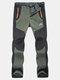 Pantalon de Sport Extérieur Élastique Souple Doublure en Polaire Pantalon Homme Imperméable Facile à Sécher pour Garder au Chaud