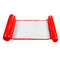 Foldable Water Hammock Single People Inflatable Backrest Beach Lounger Swimming Pool Bed - Red