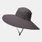 Increase The Hat Men's Fisherman Hat Waterproof Outdoor Sun Hat Sunscreen Mountaineering Hat - Grey1