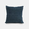 Nordic Solid Color Pillow Texture Striped Sofa Bedside Cushion Living Room Pillowcase - Navy