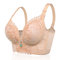 Plus Größe Wireless Lace Patchwork Gather Full Coverage Bras