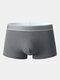 Mens Solid Color Graphene Antibacterial Underwear U Convex Boxer Briefs - Dark Gray