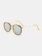 ユニセックスオーバルフレームメタルとPCフレームアンチブルーライトアンチUVサングラス - #03