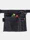 حقيبة قماشية مربعة متعددة الوظائف أداة جيب أداة سباك التخزين - أسود