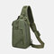 Men Oxford Camouflage Multi-carry Tactical Fishing Travel Outdoor Chest Bag Sling Bag - Army Green