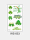 1Pc Irish Festival Waterproof Disposable Tattoos Stickers Four Leaf Clover Pattern Water Transfer Tattoo Stickers - #06