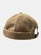 Men & Women Cotton Street Trend Fashion Casual British Style Brimless Landlord Hat Beanie Skull Hat - Brown