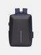 पुरुषों ऑक्सफोर्ड बड़ी क्षमता पनरोक यूएसबी चार्ज 15.6 इंच लैपटॉप बैग व्यापार आउटडोर हैंडबैग बैग - नीला