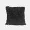 Nordic Wind Solid Color Sofa Pillow Office lumbar Pillow Car Cushion Cover - Black