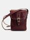 Men Vintage Wear-resistant Crossbody Bag Shoulder Bag - Coffee
