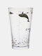 1PC 450ML Whale Plant Pattern Home Outdoor Double-use Straw Lid Bottle Cup Glasses With Measuring Scale Water Cup - 1PC Whale Cup