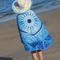 150cm Impresión de Mandala Poliéster Verano Playa Toalla Manta de tapicería de decoración colgante - Azul
