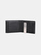 Men Faux Leather Retro RFID Anti-theft Multi-slot Card Holder Wallet Money Clip - Black