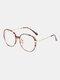 Unisex Oval Full Frame Flat-light Fashion Simple Glasses - #05