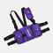 Men Oxford Vest Casual Tactical Multi-pocket Chest Bag Crossbody Bag - Purple