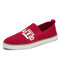Women Outdoor Light Knitted Slip On Casual Flat Walking Shoes - Red