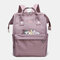 Women Oxford Waterproof Anti-theft Cat Casual Backpack - Cameo