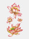 28 Pcs Disposable Tattoos Stickers Colored Plum Blossom Rose Peach Waterproof Temporary Tattoos - 08