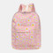 Women Nylon Daisy Casual Campus Backpack School Bag - Pink