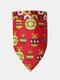 6 Pcs Christmas Pet triangle Scarf Pet Saliva Towel Double-Sided Dog Bandana Scarf Pet Supplies - #01