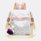 Women Anti theft Multi-Carry Laser Casual Backpack Shoulder Bag - White