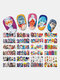 3D Nail Art Tips Retro Lovers Sunset Rose Transfer Decals Valentine's Day Stickers - #08