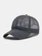 Unisex Mesh Breathable Outdoor Sonnenschutz Solid Trucker Hut Baseball Hut - Grau