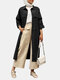 Casual Solid Color Long Sleeve Cotton Plus Size Jackets - Black