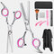 Hair Cutting Tool Set Professional Hairdressing Scissors Tooth Scissors Flat Shears Household Set - Silver