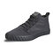 Men Comfy Ice Silk Cloth Lace Up Soft High Top Sneakers - Gray