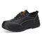 Men Steel Toe Cap Leather Work Safety Shoes - Black