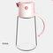 زجاجة تخزين زجاجية للتوابل للمطبخ ومضادة للرطوبة ومضادة للأتربة بسعة كبيرة زجاجة خل زيت الصوص - زهري