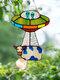 アクリルUFOエイリアンカウサンキャッチャーの装飾ガラス窓車の魅力吊り下げペンダントホームガーデン飾りの装飾 - #01
