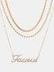 Collar Vintage Doce Constelaciones Mujer Collar de diamantes con incrustaciones de múltiples capas Colgante - Tauro