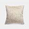 Pure Color Plush Geometric Pineapple Grid Sofa Pillow Living Room Bedside Pillowcase - Beige