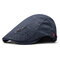 Men's Comfortable Cap Spring And Summer Embroidery Cotton Adjustable Fashion Beret Cap - Grey
