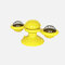 Rotating Turntable Cat Toy Pet Suction Cup Pet Ceaning Toy Comb Brushing Tooth Brush Toy - Yellow