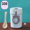 Wheat Straw Portable Breakfast Cup Sealed Insulated Breakfast Porridge Milk Edible Cup Spoon - 02