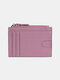Men Genuine Leather RFID Coin Purse Push Card Holder Wallet - Pink