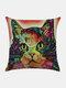 Colorful Animal Pattern Linen Cushion Cover Home Sofa Art Decor Throw Pillowcase - #03
