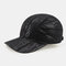 Men's Leather Hat First Layer Cowhide Casual Dome Duck Tongue Earmuffs Adjustable Big Brim Baseball Cap - Black2