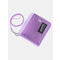 Clear Wallet Glitter Jelly Wallets Transparent Bifold Photocards Holder Lanyard Coin Pouch - Purple